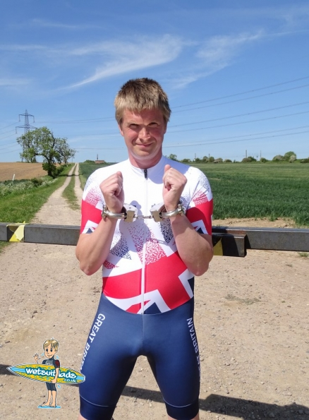 Hunter inline skinsuit Team Britain 2018 + Clejuso handcuffs