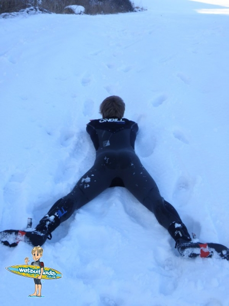 O'Neill 5/4 Mutant wetsuit in the snow
