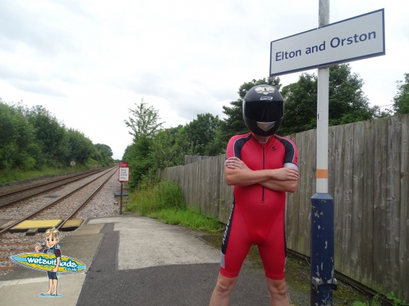 Synergy Red Cycling Skinsuit