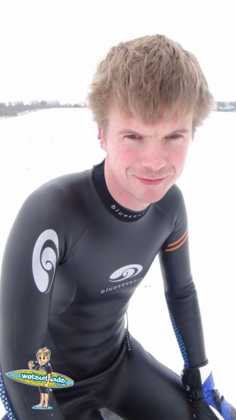 Wetsuit snow fun