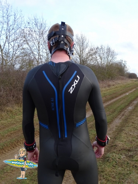 Fetters Padded Leather Muzzle + wetsuit