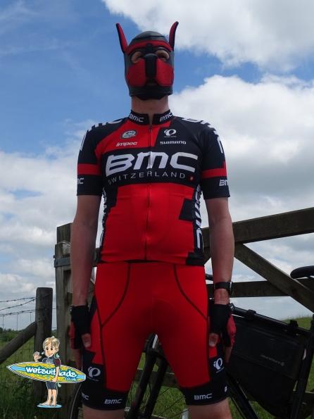 BMC Racing Team kit and Neoprene Pup Hood