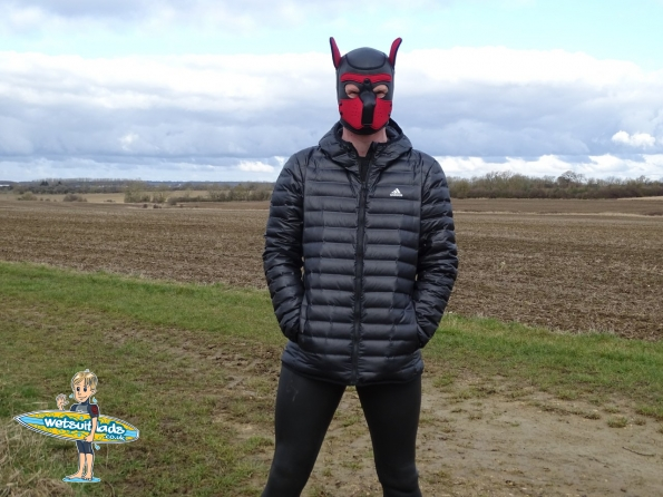 adidas Varilite Down Hooded Jacket and Neoprene Pup Hood