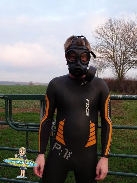 2XU P:1 Propel wetsuit + S10 gas mask