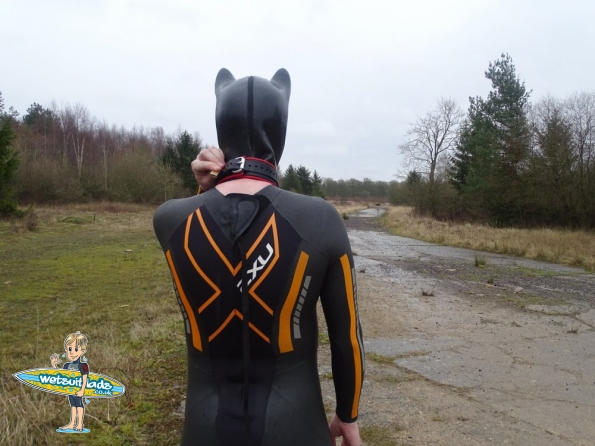2XU P:1 Propel wetsuit + pup hood