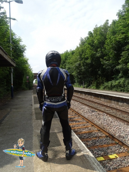 RST leathers fun at railway station