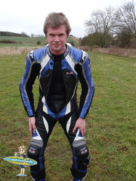 Leathers + wetsuit