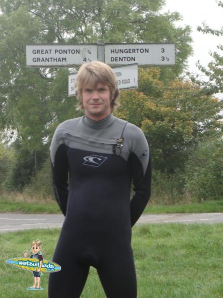 Padlocked in wetsuit