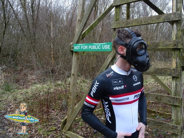 Lycra skinsuit + S10 gas mask